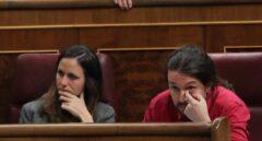 Ione Belarra y Pablo Iglesias en el Congreso en una imagen de archivo