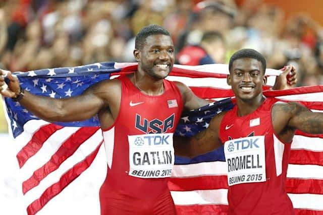 Trayvon Bromell (derecha), durante los Mundiales de Pekín 2015