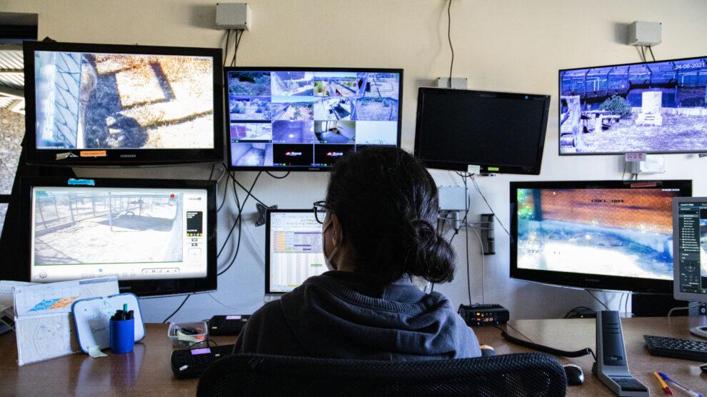 Sala de control y monitorización del centro de cría de lince ibérico de Zarza de Granadilla, Extremadura