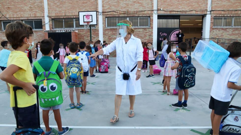 Primer día del curso escolar en Málaga, en septiembre de 2020