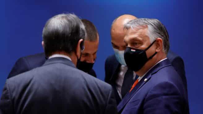 El primer ministro húngaro, Viktor Orban, en la reunión del Consejo Europeo, en Bruselas