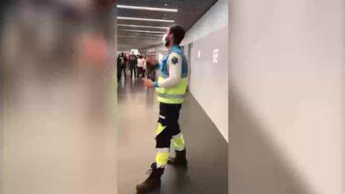 El discurso viral del sanitario del 112 en el Wanda Metropolitano a los vacunados