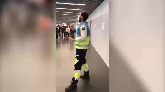 El sanitario que ha dado un discurso viral en el Wanda Metropolitano
