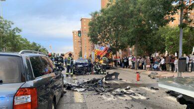 Un aparatoso accidente en Puente de Vallecas deja siete heridos