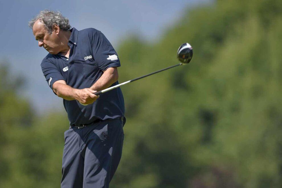 El ex presidente de la UEFA Michel Platini, durante un torneo de golf en septiembre de 2019 en Turín