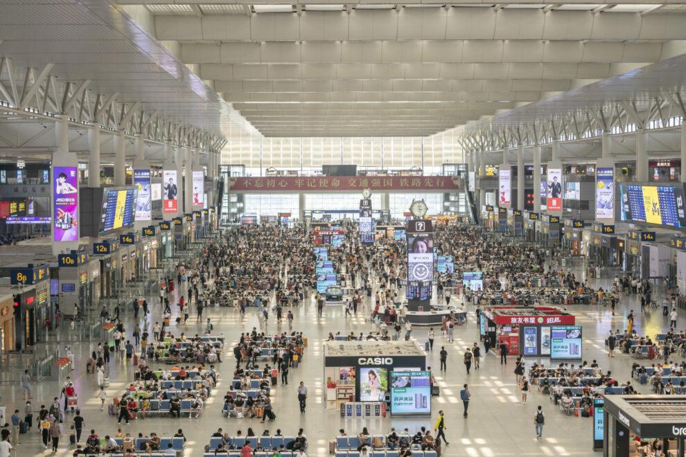 Estación de tren de Shanghai, en una imagen tomada el pasado julio
