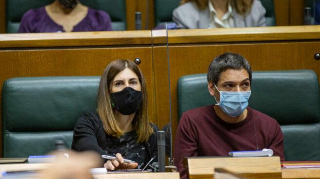 La portavoz de Elkarrekin Podemos, Miren Gorrotxategi, en el Parlamento Vasco.