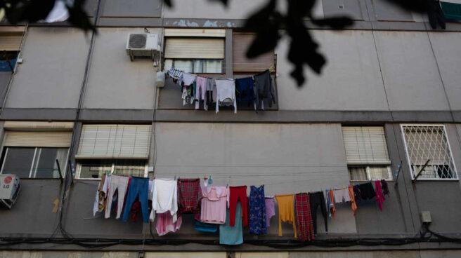 Barrio de Ciutat Meridiana, uno de las zonas con la tasa de infectados más alta de Barcelona