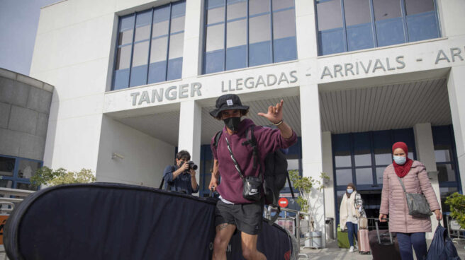 Llegada de turistas españoles procedentes de Marruecos al Puerto de Algeciras