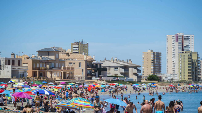 Playa de La Manga del Mar Menor (Murcia).