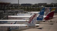 Varios aviones de Air Europa en la terminal T4 del Aeropuerto Adolfo Suárez Madrid-Barajas.