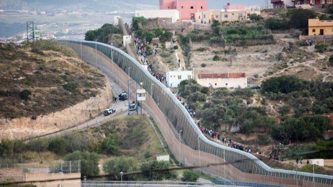 Imagen de la frontera que separa Melilla y Marruecos el pasado mayo