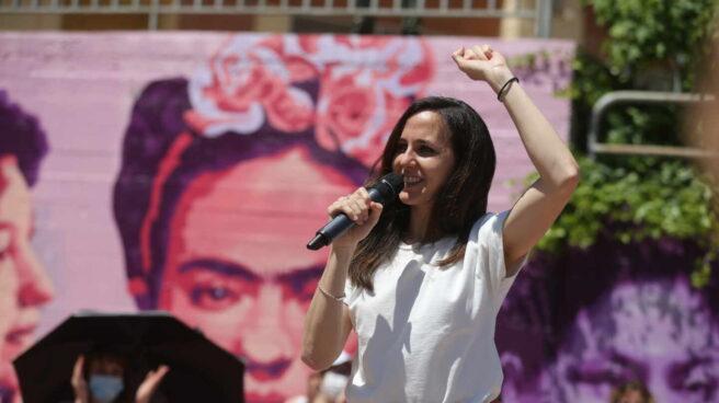 La ministra de Derechos Sociales, Ione Belarra, durante un acto de su campaña para liderar Podemos en Getafe (Madrid)