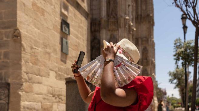 Calor en el centro de Sevilla.