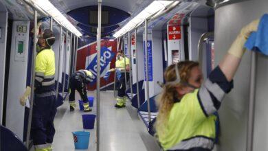 Metro de Madrid da un plus de 10 millones a las contratas de limpieza por el Covid-19
