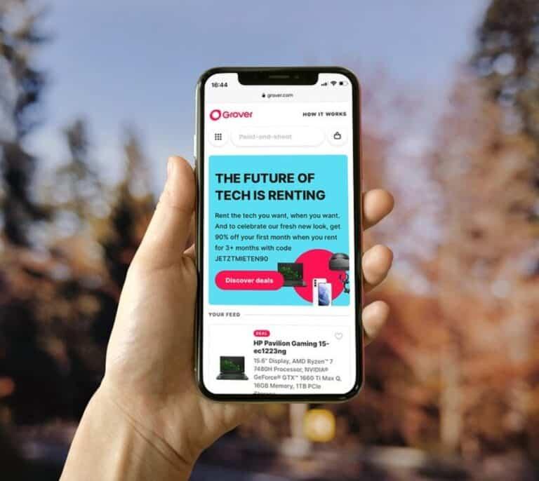 Grover, la plataforma para alquilar móviles y tabletas, llega a España