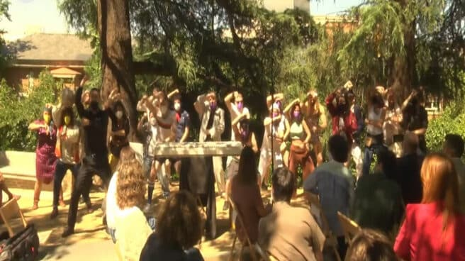 Imagen de la Haka que han bailado en el acto de Orgullo del Ministerio de Igualdad
