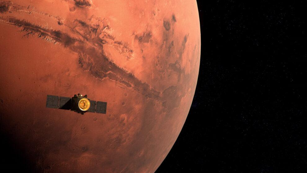 Recreación del Emirates Mars Mission