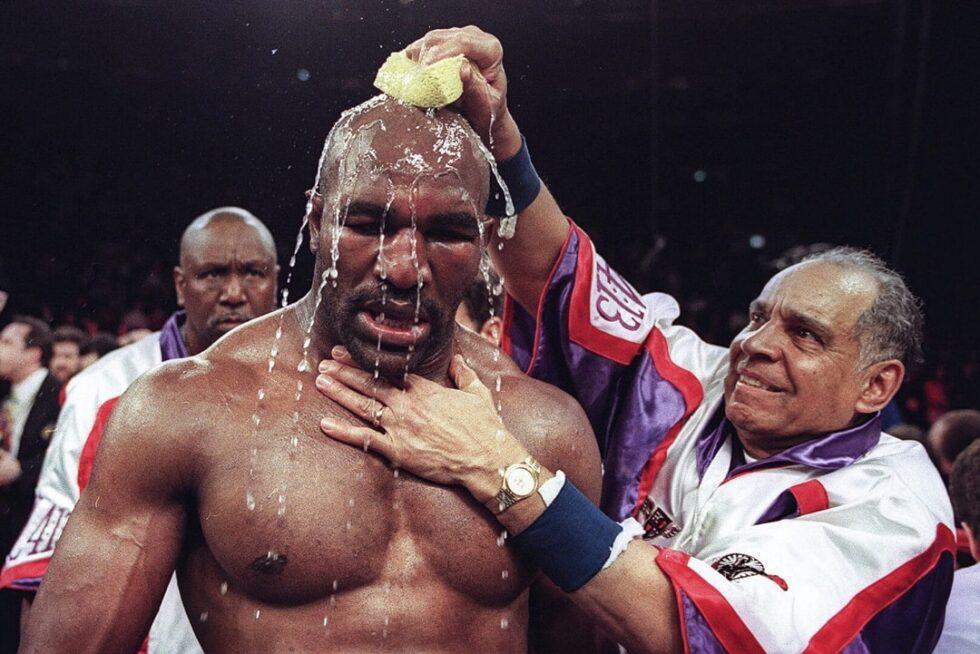 Evander Holyfield, durante un combate en el Madison Square Garden en 1999