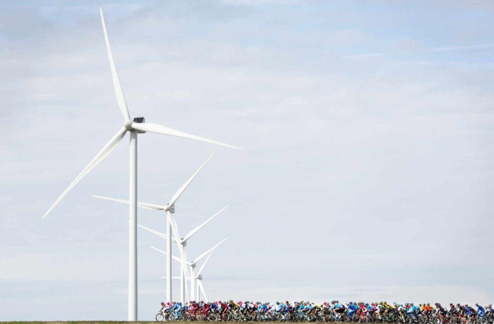 El pelotón durante el Tour de Francia 2020