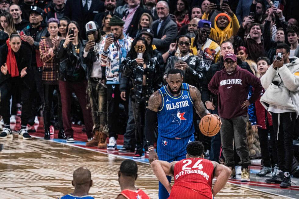 LeBron James, durante el All Star de la NBA de 2020