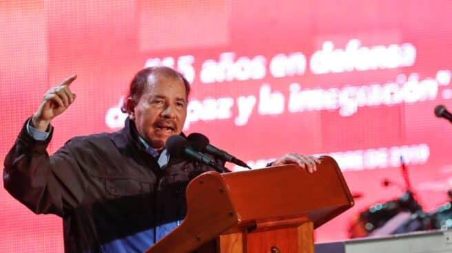 Daniel Ortega, presidente de Nicaragua, en una cumbre del ALBA