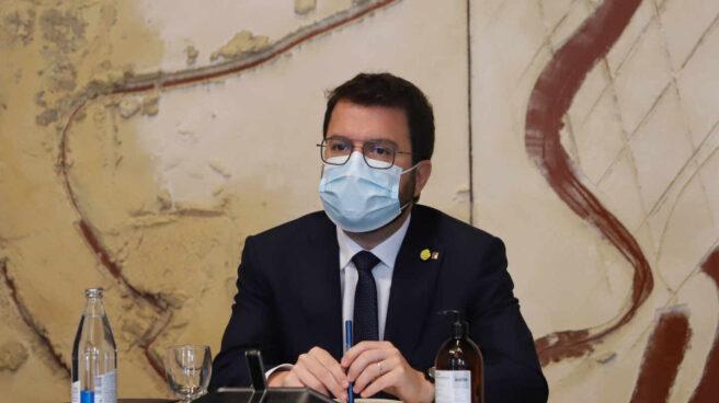 Pere Aragonès preside la reunión del Govern