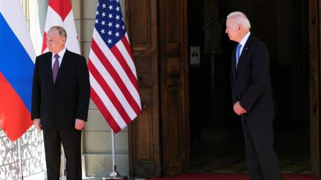 Putin y Biden, en la Villa La Grange, en Ginebra