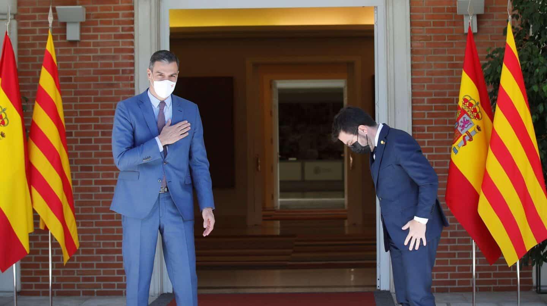 Mesa de diálogo y fondos europeos, los dos frentes de Aragonès en Moncloa
