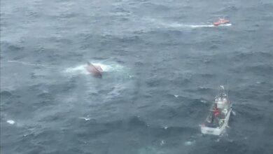 Fallecen dos tripulantes de un buque de Portosín que naufragó en Cedeira (La Coruña)