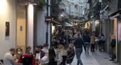 Terrazas de bares de A Coruña.