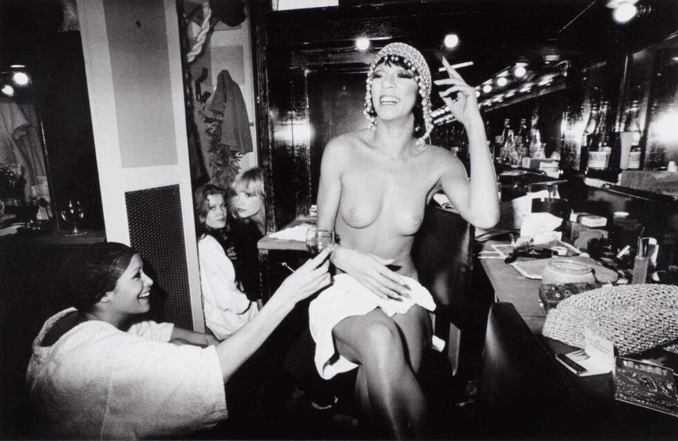 Bailarinas de Crazy Horse que fotografio Timm Rautert en 1977.