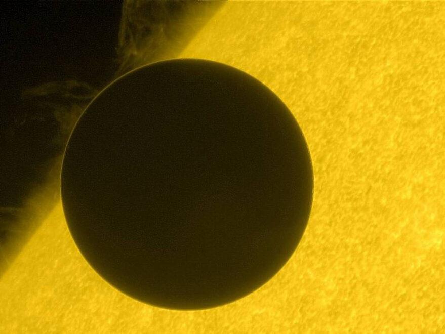 Imagen de Venus durante el Tránsito de 2012