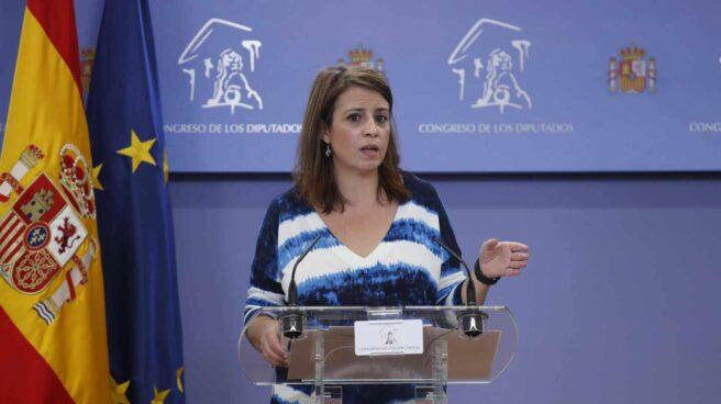 La portavoz del PSOE en el Congreso de los Diputados, Adriana Lastra.