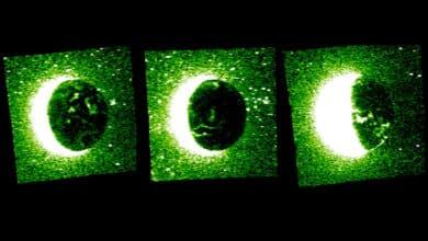 La primera instantánea de una aurora discreta de Marte