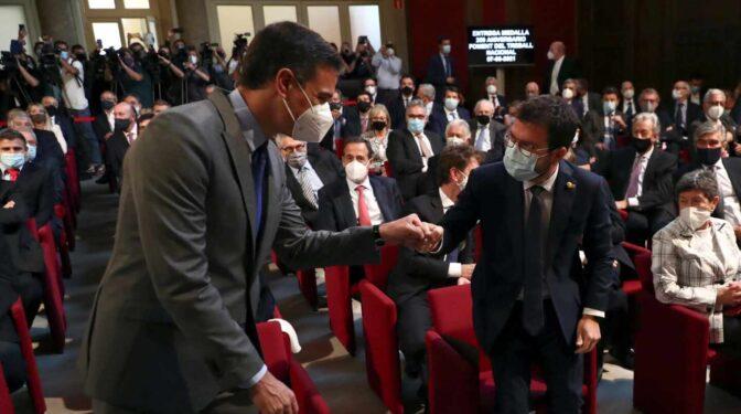Sánchez exhibe entendimiento con ERC en Barcelona tras la carta de Junqueras sobre los indultos