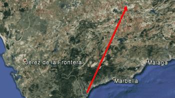 Una lenta bola de fuego sobrevoló la provincia de Málaga en la madrugada del lunes