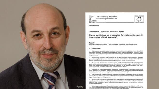 Imagen de Boris Cilevics con una imagen del informe