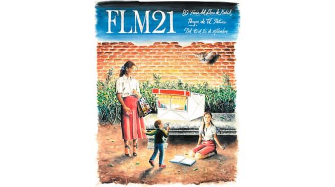 Imagen del cartel de la feria del libro 2021