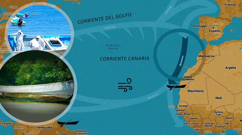 Un cayuco 'canario' en el Caribe
