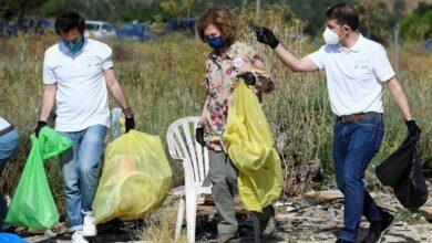 La Reina Sofía participa en la campaña 'contra la basuraleza'