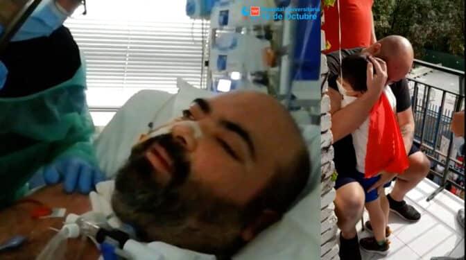"""David, el """"paciente milagro"""" que salió del Covid gracias a un pulmón artificial"""