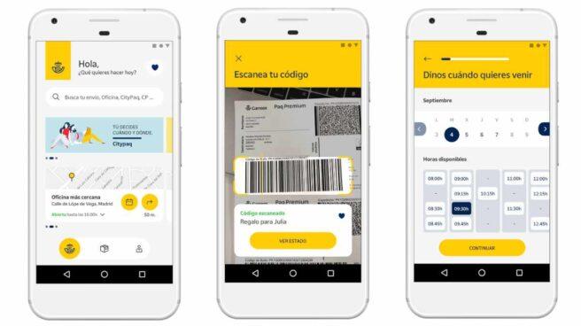 Una app modélica y servicios como la tarjeta Correos Prepago forman parte de la amplia carta de productos digitales de Correos.