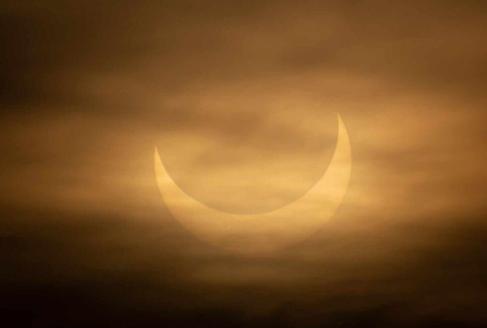 Otra imagen del eclipse desde Winthrop, Massachusetts