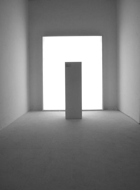 Peana de la escultura invisible de Javier Boyer Tresaco