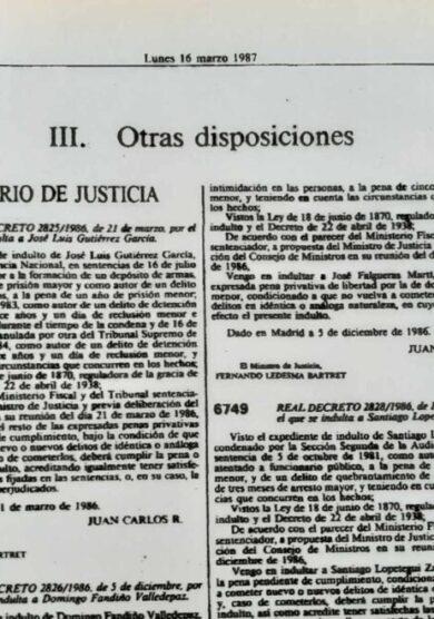 La ETA 'indultada' por González y Aznar