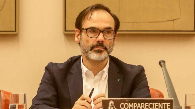Fernando Garea, en una comparecencia en el Congreso durante su etapa como director de la Agencia EFE.