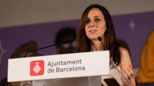 La ministra Ione Belarra, este jueves en Barcelona.