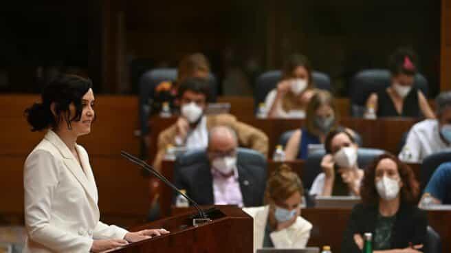 Isabel Díaz Ayuso expone su programa de gobierno en el debate de investidura.