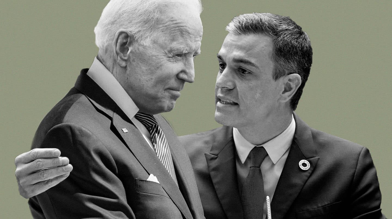 Sánchez busca el abrazo de Biden